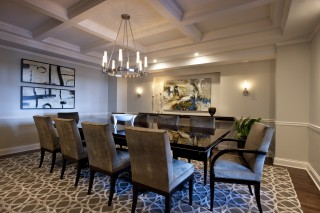 Custom Dining Room rug/design by Michael Abrams